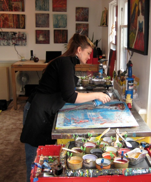 Kelly Williams in her studio