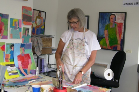 Margie at work in her studio